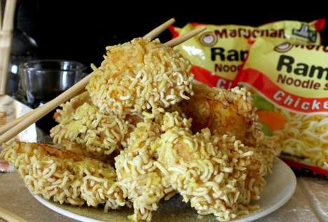 Ramen Chicken Nuggets - This Chicken Nugget Recipe Replaces Traditional Breading with Noodles