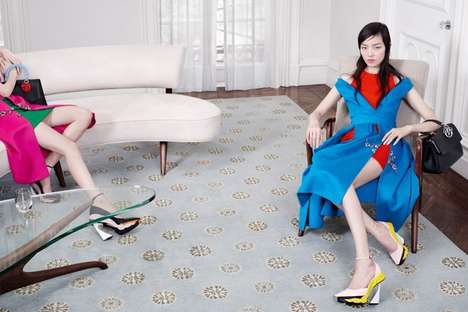 Lady-in-Waiting Fashion Ads - The Dior Fall 2014 Campaign Stars Julia, Fei Fei, Helena and Kasia