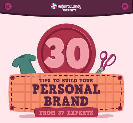 Entrepreneurial Career Tips - This Infographic Offers Advice On Establishing a Personal Brand