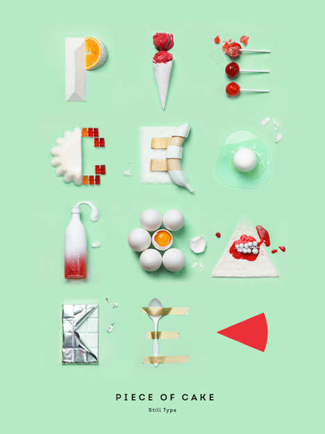Delicious Confectionery Typefaces - Luda Galchenko Edible Typography is Made Entirely from Sweets