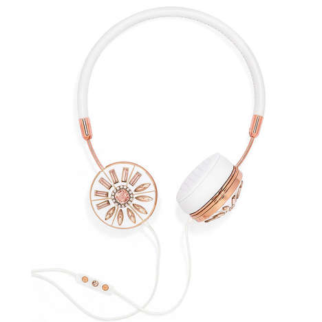 Bejeweled Headphones - The FRENDS x BaubleBar Layla Headphones are Functional Accessories