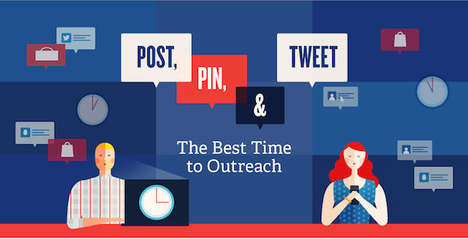 Outreach-Optimizing Stats - This Infographic Goes Over the Best Time to Post on Social Media