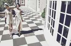 Glamorous Gatsby Editorials - Glassbook's Smoke and Mirrors Fashion Story is a Fresh Take on the 20s
