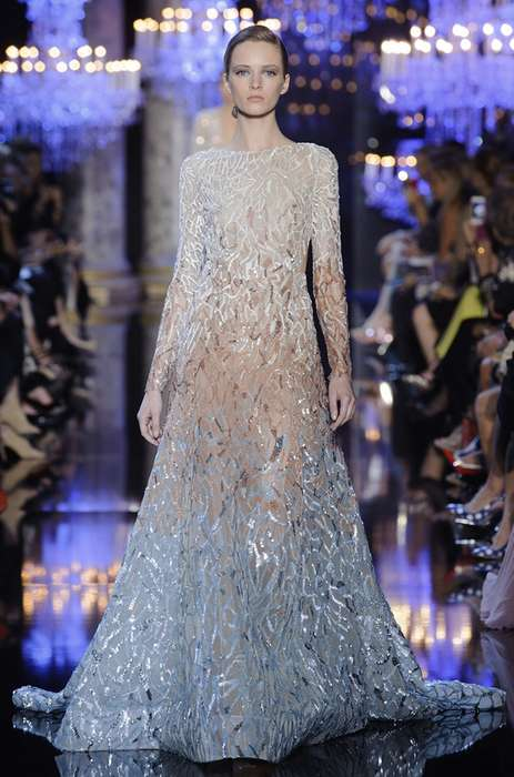 Aqua Princess Couture - The Elie Saab Fall 2014 Haute Couture Collection is Stunning