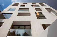 Irregular Concrete Facades - The Amsterdam 169 Building in Mexico Has an Unusual Surface