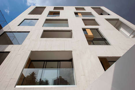 Irregular Concrete Facades - The Amsterdam 169 Building in Mexico Has an Unusual Surface