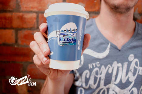 Fresh Breath Coffee Cups - Seattle Coffee Co. Cups Have Coffee and Gum to Thwart Bad Breath
