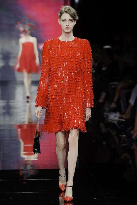 Playful 50s Couture - The Armani Privé Fall 2014 Haute Couture Collection is Rich in Color