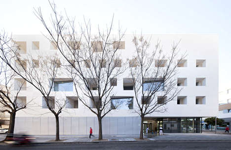 Contrasting Material Architecture - The University of Cordoba Receives an Update by de La-Hoz