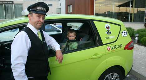 Permanent Cab Car Seats - This Latvian Car Fleet Established a Safer Taxi Child Seat Initiative