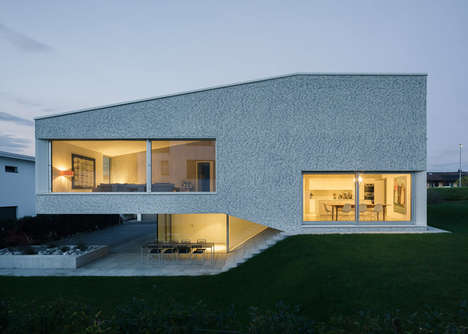 Split-Level Swiss Homes - The House in the March District is Arranged Within Five Split-Levels