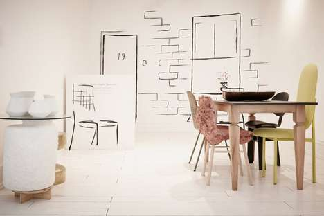 Exhibit Space Eateries - The 19 Greek Street Cafe Features Doodle-Accented Wall Decals