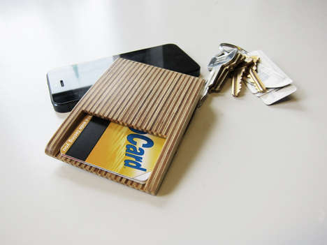 Simple Plywood Wallets - The Woodstack Wallets by Burnt Edge Design is Surprisingly Sleek