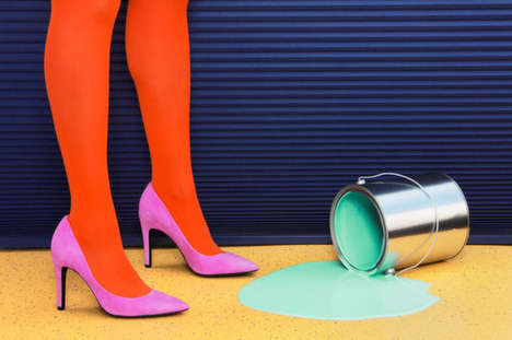 Colorful Mishap Photography - Outside the Lines by Ramona Rosales Focuses on Feminine Clumsiness