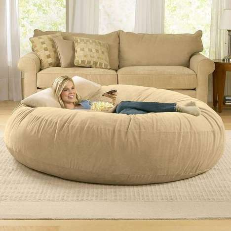 Oversized Bean Loungers - This Adult Bean Bag Furniture from Jaxx is Ridiculously Comfortable