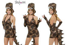 Sultry Dinosaur Costumes - This Seductive Dinosaur Suit is Great for Playing Prehistoric Dress-Up