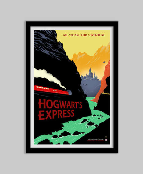 Wizardly Travel Posters - These Hogwarts Express Prints Celebrate the New Harry Potter Story