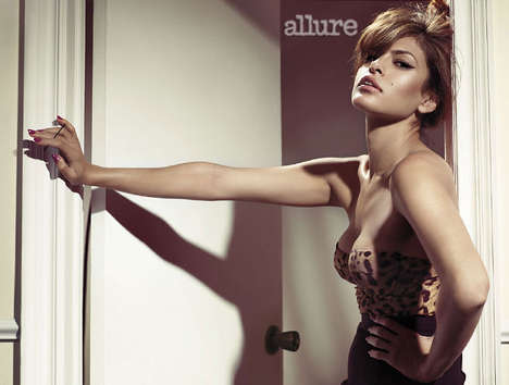 20 Sensual Eva Mendes Moments - From Frisky Fashion Outtakes to Banned Celebrity Ads