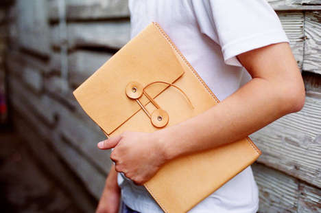 Artisan Laptop Accessories - This MacBook Air Leather Envelope Case from Etsy