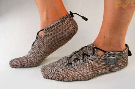 Chainmail Running Shoes - These Protective Paleo Barefoots are Almost Like Running Barefoot