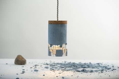 Dismantled Industrial Lamps - The Slash Lamp Lets You Cast the First Stone