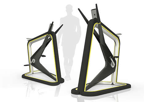 Boxy Stationary Bikes - The Vito Cycling System by Rob Melville is Futuristic and Sculptural