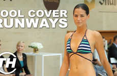 Pool Cover Runways - Vitamin A's Spring 2015 Swimwear Runway Show Took Place Across a Pool