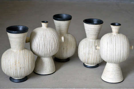 Organically Textured Ceramics - The Akio Nukaga and Friends Exhibit Displays Latest Pottery Works