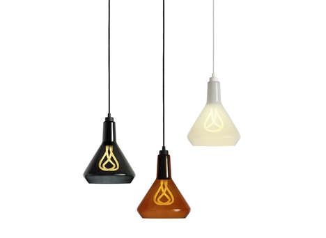 Squiggly Lightbulb Lamps - Plumen