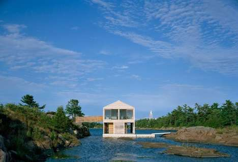 Floating Cedar Homes - The Floating House is Situated on Lake Huron