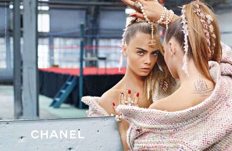 Gaudy Workout Editorials - Cara Delevingne Poses for the Chanel Fall/Winter 2014 Campaign