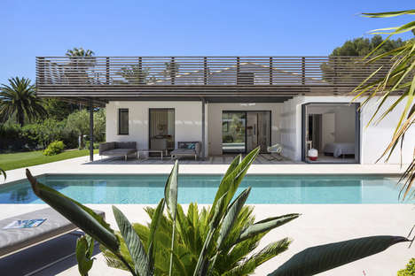Contemporary Coastal Abodes - This Saint Tropez Home Features an Impressive Pergola