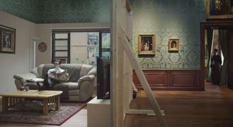Homey Museum Installations - Mauritshuis' Museum Campaign Turns a Gallery into a Home Setting