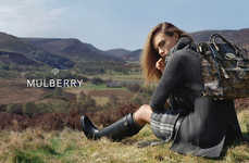 Countryside Purse Campaigns - Cara Delevingne for Mulberry is a Vision in Cozy British Outfits