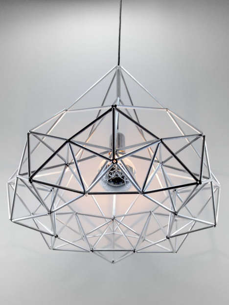 Gridded Geometry Illuminators - The Himmeli Diamond Star Light from Etsy