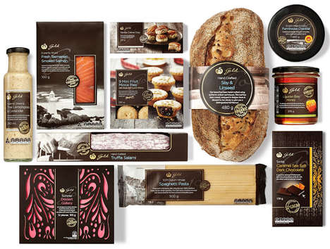 Decadent Grocery Packaging - Woolworths Gold Grocery Store Food Packaging is Unusually Upscale
