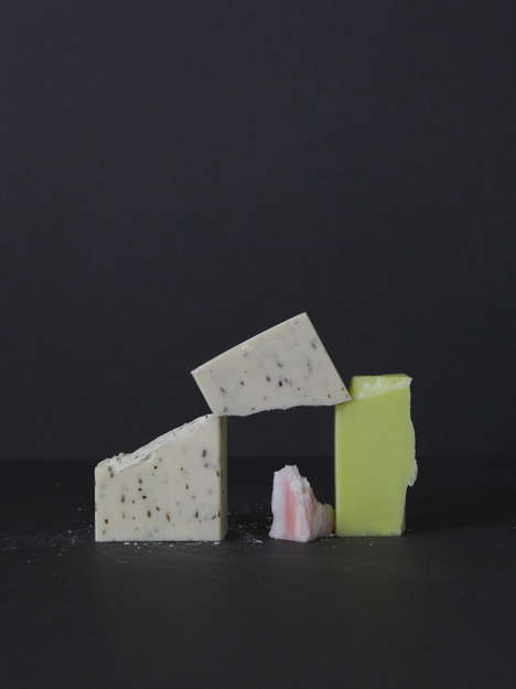 Broken Soap Arrangements - Anna Mackenzie Creates Simple Still Life for Drummond Body Care