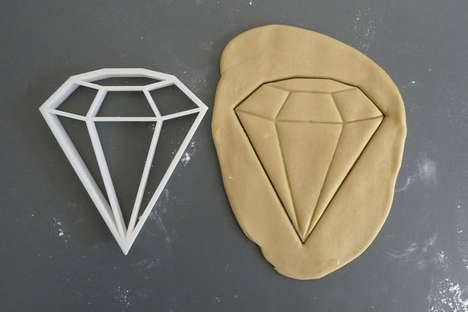 Baking Bling Accessories - This Diamond Cookie Cutter from Etsy's Printmeneer Shop is 3D-Printed