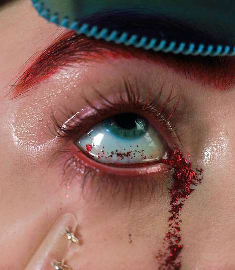 Creepy Beauty Editorials - The Novembre Magazine Issue Focuses on Experimental Looks