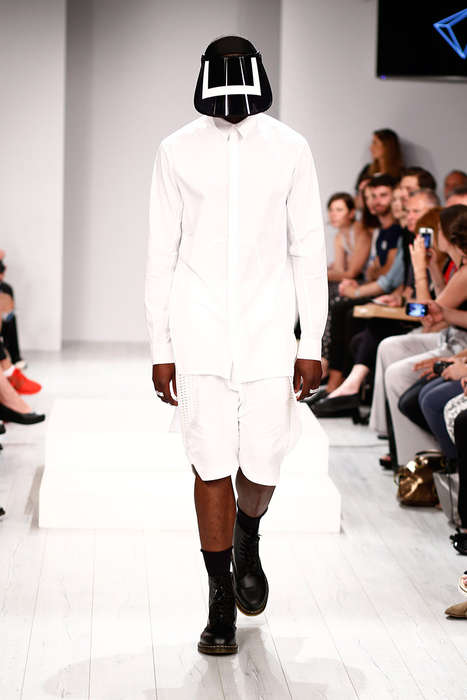 Visor-Wearing Menswear Shows - The ODEUR Spring/Summer 2015 Line is a Sci-Fi Take on Sportswear