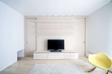 Minimalist White-Washed Apartments - Yuuki Kitada Uses a Simplistic Approach for This Abode