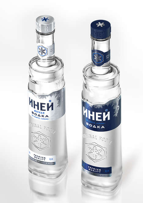 Shapely Vodka Branding - The INEY Packaging by StudioIn Takes on Distinct Qualities