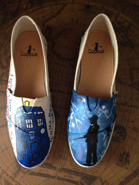 TV Series Slip-Ons - These Dr. Who Shoes are Custom Designed by Etsy