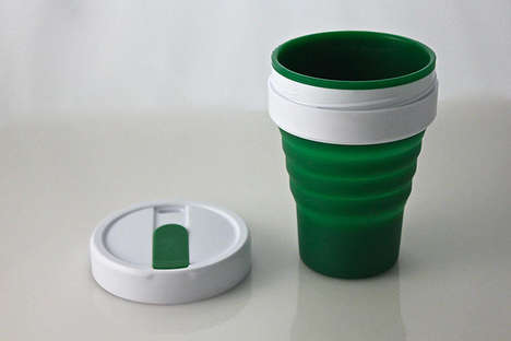 Collapsable Coffee Cups - The Smash Cup Portable Travel Mug Fits Into Your Pocket