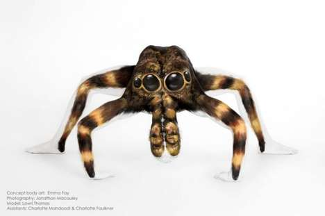 Terrifying Body Art - Artist Emma Fay Creates the Illusion of a Giant Tarantula on Woman