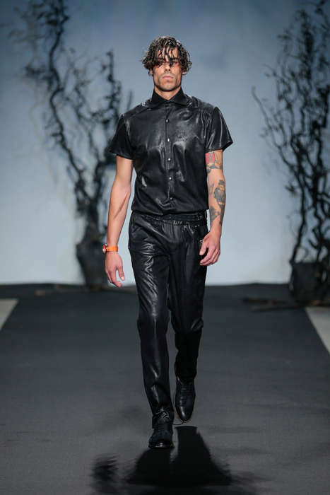 Dramatic Urbanite Runways - The Jonathan Christopher Spring/Summer 2015 Show Features Wet Hair Looks
