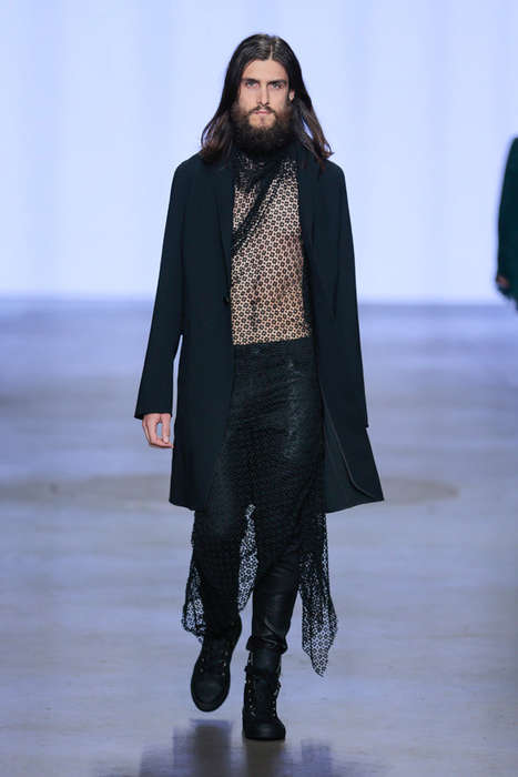 Brooding Artist Runways - TONY COHEN Spring/Summer 2015 Collection is Hipster-Approved