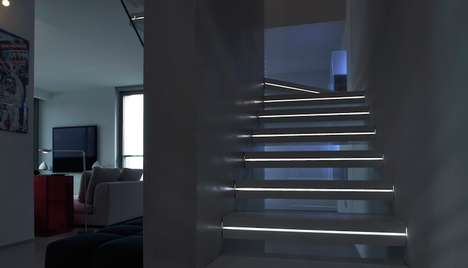 Illuminated Marble Staircases - Luxo Has Created a Marble Staircase That Lights Up