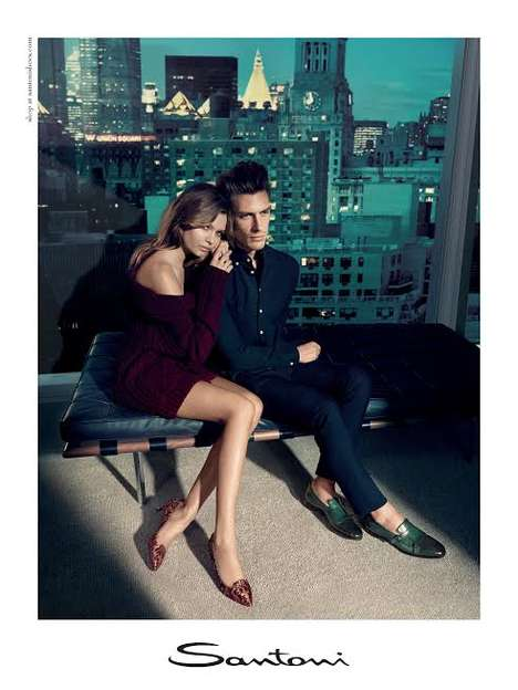 Sophisticated Skyline Campaigns - The Santoni FW 2014 Campaign Features Penthouse Living