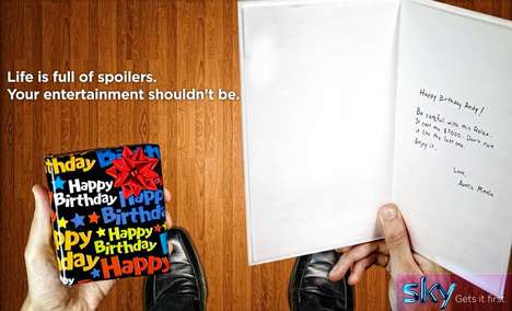 Birthday Spoiler Ads - This Sky TV Ad Shows the Struggle of Stumbling Upon Unwanted Spoilers